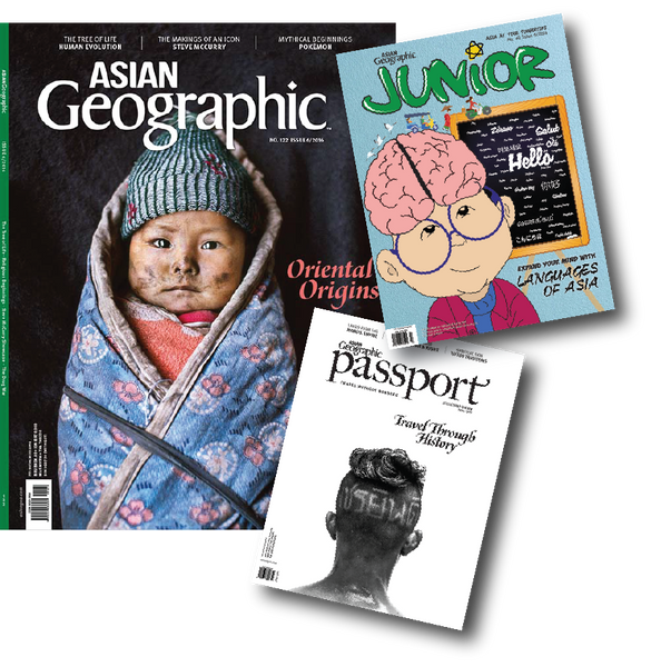 FAMILY PACKAGE: Asian Geographic + AG Passport + AG Junior (Save 30% off newstands)