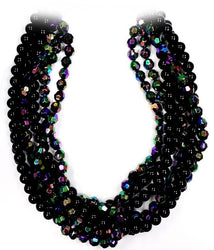 Black & Multi-Coloured Beaded Necklace