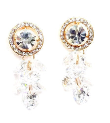 Cubic Zirconia Dangled Studs