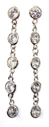 Dangling Circle Small Chain Earrings