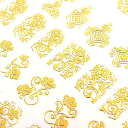 Gold Sticker Nail Decals