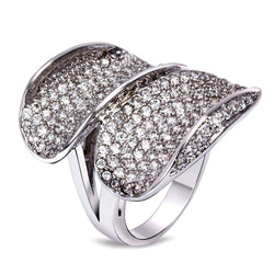 Cubic Zirconia Big Wide Ring (Size 8)