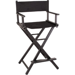 Black Aluminum Cosmetic Director Chair