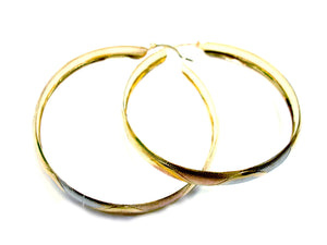 Large Gold Layered Hoops