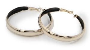 Gold Inner Painted Hoop Earrings