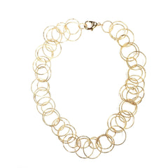 Circular Cut Link Chain Necklace