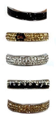 Crystal Eternity Rings (Size 7)