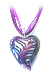 Heart Dichroic Glass Necklace