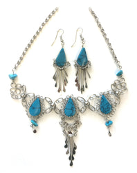 Azure Teardrop Necklace/Earring Set