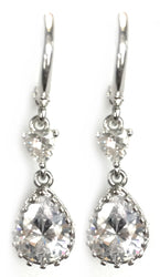 Cubic Zirconia Pear Earrings