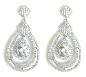 Cubic Zirconia Teardrop Style/Rhinestone Earrings