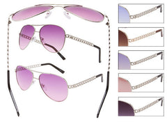 Aviator Curb Style Band Sunglasses