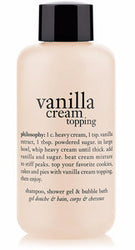 Vanilla Cream Topping Shampoo, Shower Gel, and Bubble Bath