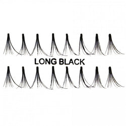 Long Flare Individual False Eyelashes