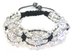 Clear Beaded Shamballa Bracelet