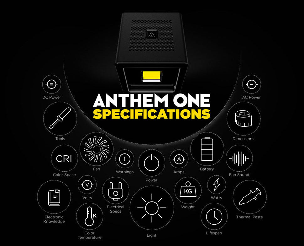 Anthem One LED Lighting System | Specifications