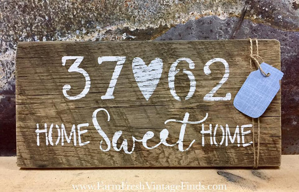Barnwood Zip Code Sign
