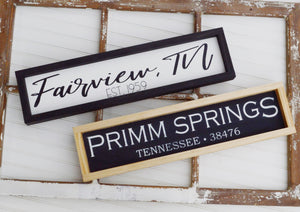 Custom Handmade Wooden Sign - Choose Your Hometown!