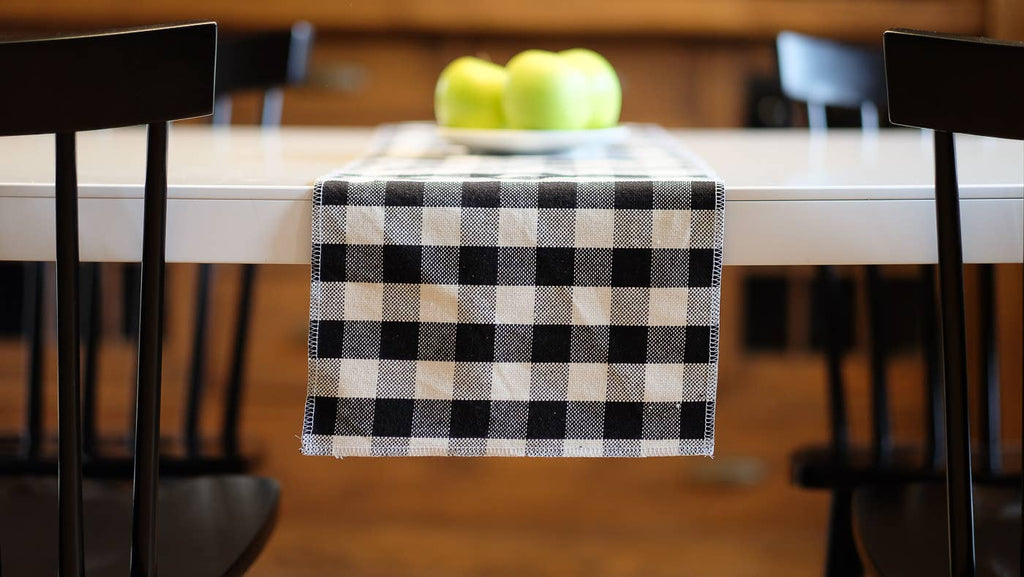 "Farmhouse Table Runner Small Check 12"" x 108"""