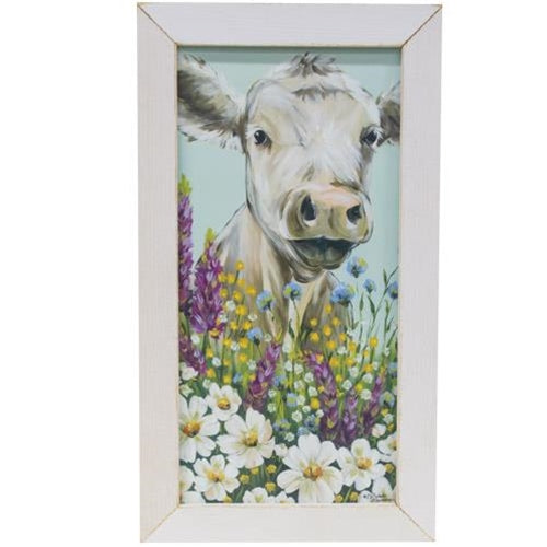 Cow with Flower Print