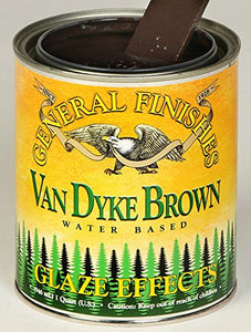 General Finishes Van Dyke Brown Glaze Effects