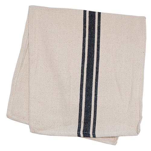 Grain Sack Grey Stripe Long Runner