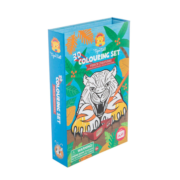 3D Colouring Set / Fierce Creatures