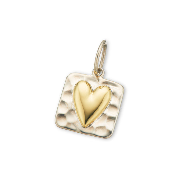 Small Heart Charm / Square