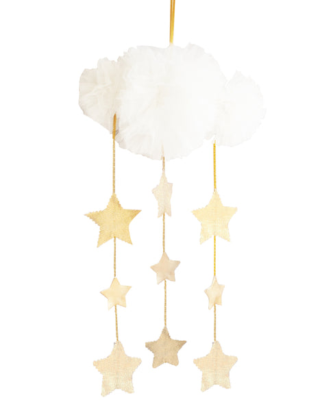 Tulle Cloud Mobile / Ivory & Gold