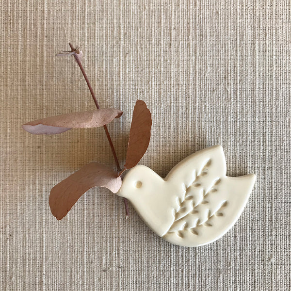 Ceramic Vase Magnet / Bird