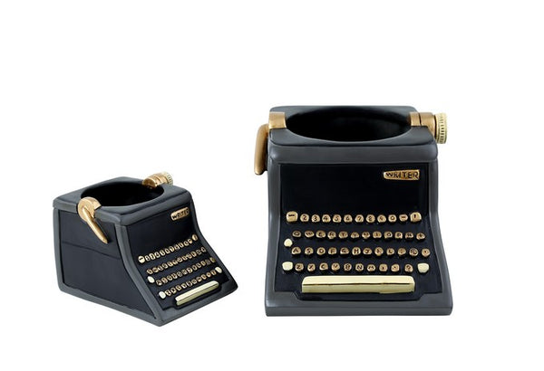 Black Type Writer Planter / Small