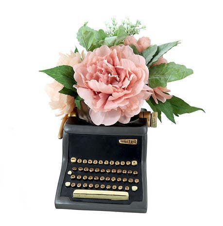 Black Type Writer Planter