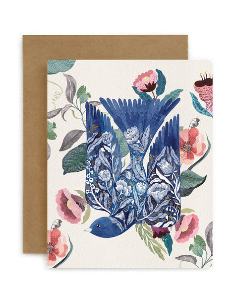 Greeting Card / Bloomstra 'Blue Bird'