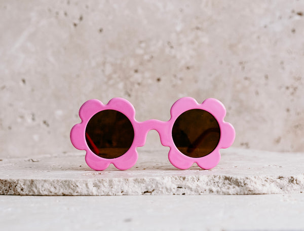 Daisy Shaped Kids Sunglasses / Bubble Gum