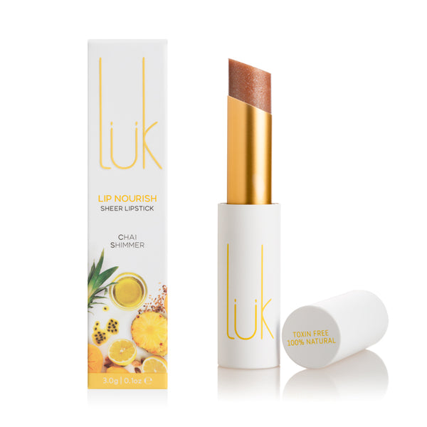 Lip Nourish Chai Shimmer Natural Lipstick
