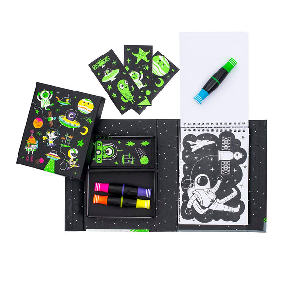 Neon colouring set / Outer Space