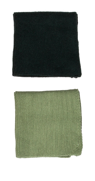 Cotton dishcloth set of 2 / Green