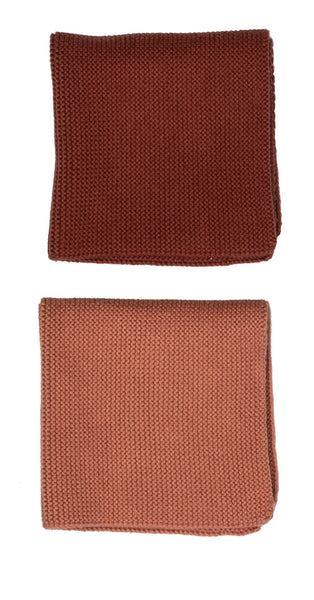 Cotton dishcloth set of 2 / Rust