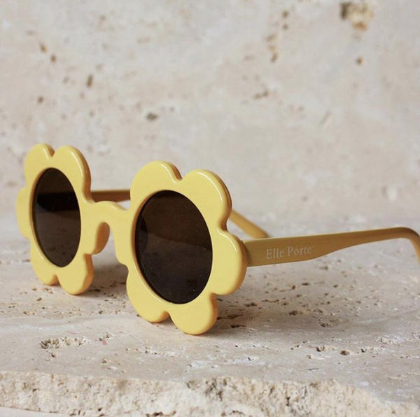 Daisy Shaped Kid's Sunglasses / Banana Yellow