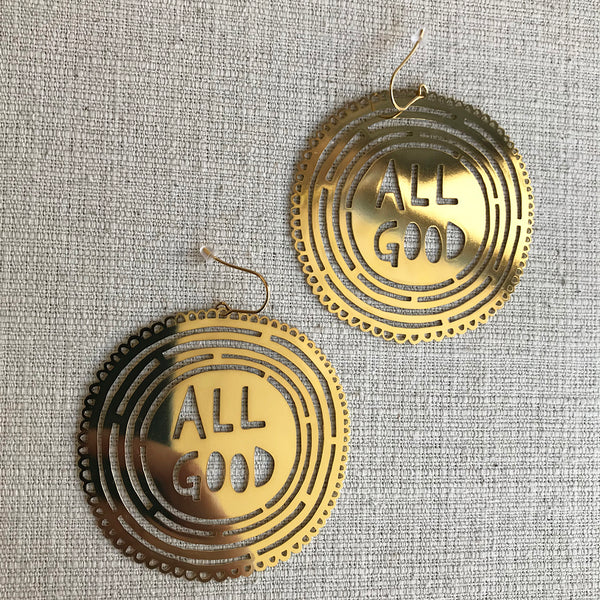 All Good statement earrings / Gold