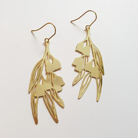Gum nuts statement earrings / Gold