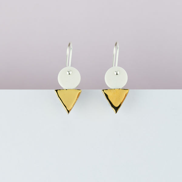 Erin Lightfoot / White Tri-Stack Drop Earrings