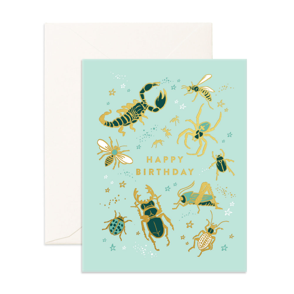 Greeting Card / Happy Birthday Bugs
