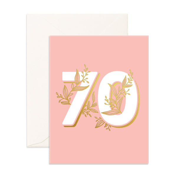 Greeting Card / No. 70 Floral Happy Birthday