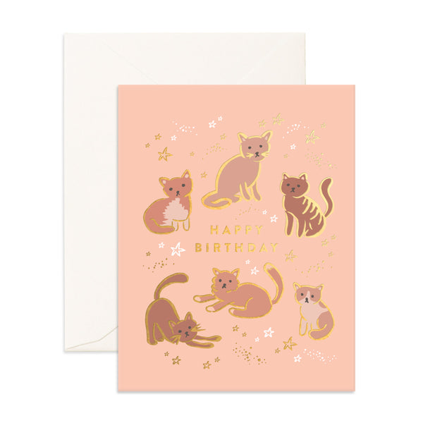 Greeting Card / Happy Birthday Cats