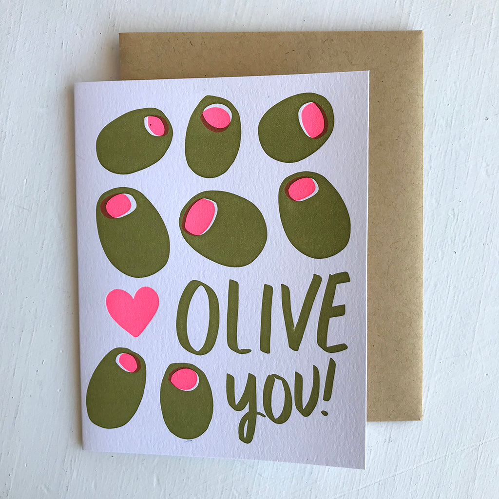 Greeting Card / Olive You!