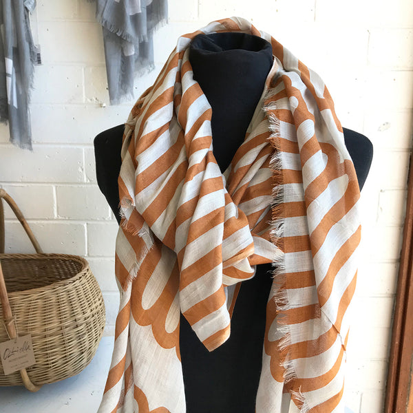 Long Loop Scarf / Yellow