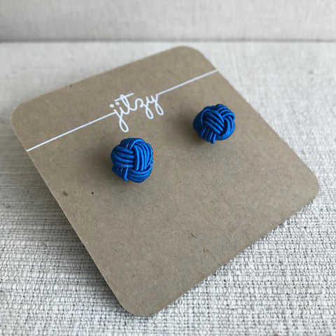 Knot Earrings / Blue