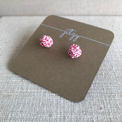 Knot Earrings / Candy Stripe