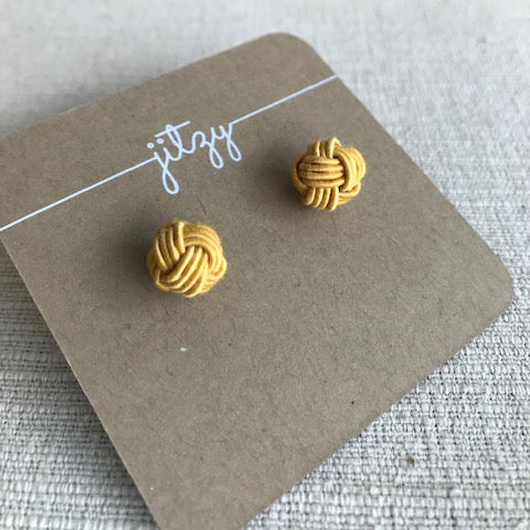 Knot Earrings / Mustard